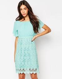 Платье с топом кроше и открытой спинкой Traffic People - Мятный