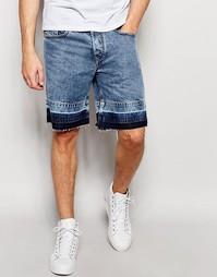 Мраморные джинсовые шорты прямого кроя Diesel Bust-RE