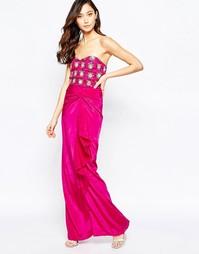 Платье макси бандо Virgo's Lounge Yoanna - Розовый