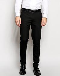 Черные строгие брюки скинни ASOS - Черный