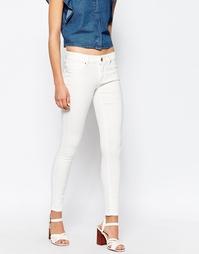 Белые зауженные джинсы Lost Ink - Белый