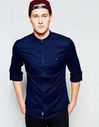 Рубашка в стиле ретро на основе смеси хлопка и льна Threadbare