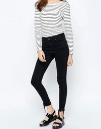 Облегающие джинсы с завязками на штанинах ASOS RIDLEY