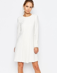Платье со складками спереди Ted Baker - Кремовый
