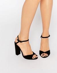 Черные сандалии с блочным каблуком Faith Lenny - Черный