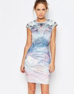 Трикотажное цельнокройное платье с принтом Ted Baker Dreamscape