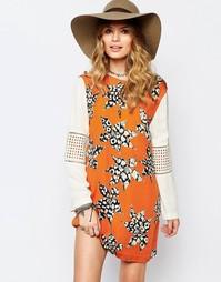 Цельнокройное платье с длинными рукавами Stevie May - Мульти