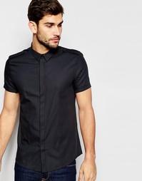 Черная рубашка классического кроя в стиле милитари ASOS - Черный