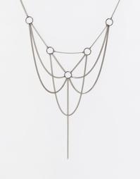 Серебристое ожерелье из цепочки Regal Rose CELEST - Серебряный