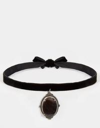 Замшевое ожерелье с перламутровой подвеской Regal Rose IRIS