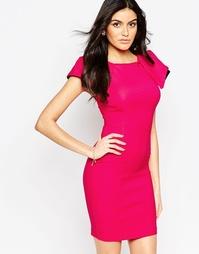 Платье миди с отделкой на плечах Vesper Logan - Светло-вишневый