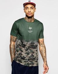 Камуфляжная шорты с эффектом брызг краски Hype - Серый