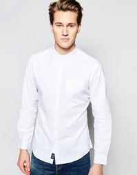 Рубашка в стиле ретро на основе смеси хлопка и льна Threadbare - Белый