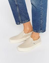 Кожаные кроссовки-слипоны Vans - Античный белый