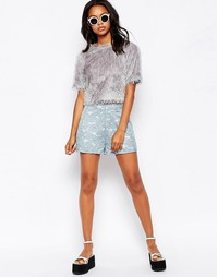 Кружевная юбка-шорты Motel Carlee - Нежно-голубой