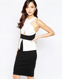 Платье миди с перекрестом спереди Vesper Roxy - Слоновая кость