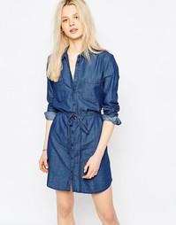 Джинсовое платье с ремнем JDY - Умеренно-синий деним