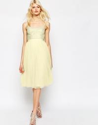 Тюлевое платье с отделкой Needle & Thread Coppelia - Лимонный