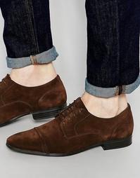 Замшевые дерби со вставкой на носке ASOS - Коричневый