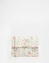 Клатч с цветочным принтом ASOS - Мульти