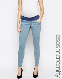 Выбеленные джинсы для беременных ASOS Maternity Sculpt Me Premium