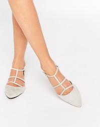 Замшевые решетчатые туфли песочного цвета на плоской подошве Glamorous