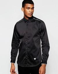 Рубашка зауженного кроя с длинными рукавами и контрастной отделкой Goo Good For Nothing