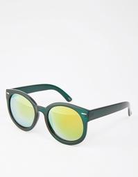 Круглые солнцезащитные очки с зеркальными линзами Monki