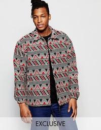 Куртка с ацтекским узором The New County - Красный