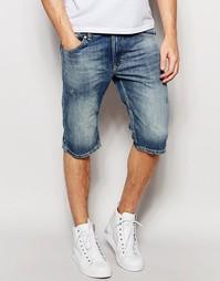 Светлые джинсовые шорты слим Diesel Thashort - Светлый