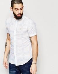 Приталенная рубашка в клетку с короткими рукавами Farah - Белый