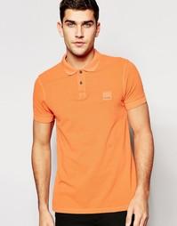 Узкая футболка-поло с логотипом Boss Orange - Оранжевый