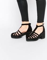 Туфли на каблуке с решетчатым дизайном ASOS ORBIT - Черный