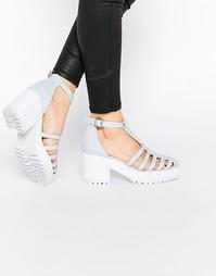 Туфли на каблуке с решетчатым дизайном ASOS ORBIT - Бледно-синий