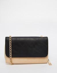 Маленькая сумка через плечо с ремешком-цепочкой Yoki Fashion - Бежевый
