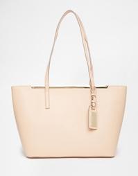 Телесная сумочка-тоут с металлической планкой ALDO - Телесный