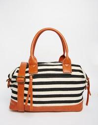 Холщовая сумка с полоску Yoki Fashion