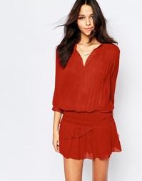 Кирпичное присборенное платье мини BA&SH Cassi - Кирпичный Ba&;Sh