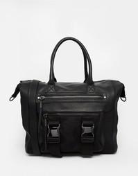 Большая сумка-тоут с пряжкой спереди ALDO - Черный
