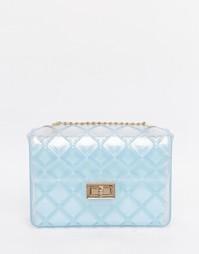 Прозрачная стеганая сумка через плечо ASOS - Прозрачный