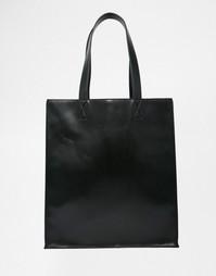 Структурированная сумка-шоппер Monki - Черный