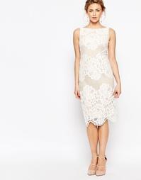 Кружевное платье-футляр Coast Moiselle - Белый