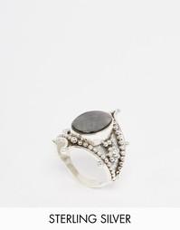 Серебряное кольцо с черным перламутром Regal Rose FAWN - Серебряный