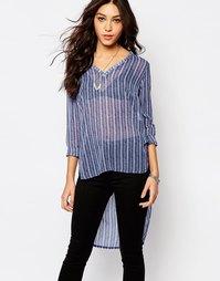 Блузка с V-образным вырезом Influence - Темно-синий