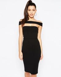 Платье миди с вырезом Missguided - Черный