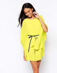 Платье с широкими рукавами и поясом Jovonna - Желтый