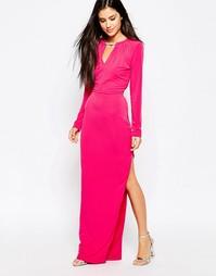 Платье макси с ожерельем Lashes Of London - Розовый