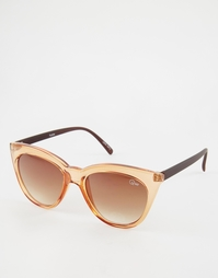 Солнцезащитные очки в прозрачной оправе Quay Isabell - Золотой