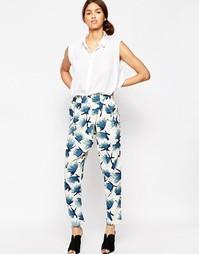 Бело-синие брюки с принтом Ganni San Pedro - Citadel