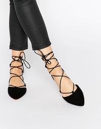 Черные туфли на плоской подошве Faith Atomic - Черный